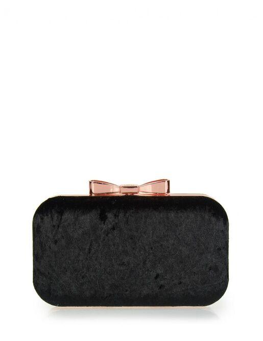 Clutch bag veta μαύρο βελούδο (4007-1)